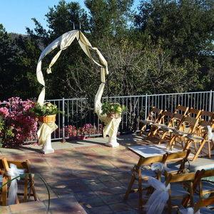 Malibu Hills Backyard Ceremony Setup