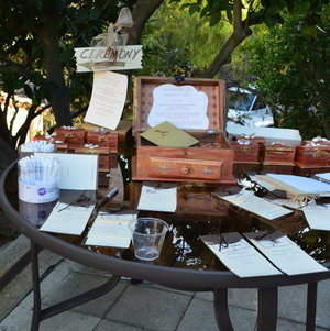 Malibu Hills Backyard Welcome Table