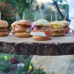 Veggie Burgers on Tree Tray