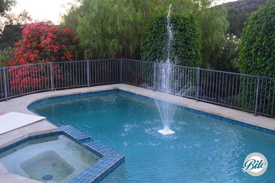 Malibu Hills Backyard Fountain
