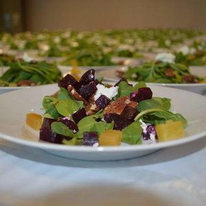 Plated Salad closeup