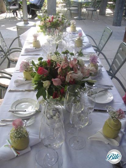 Elegant garden table decor for bridal shower