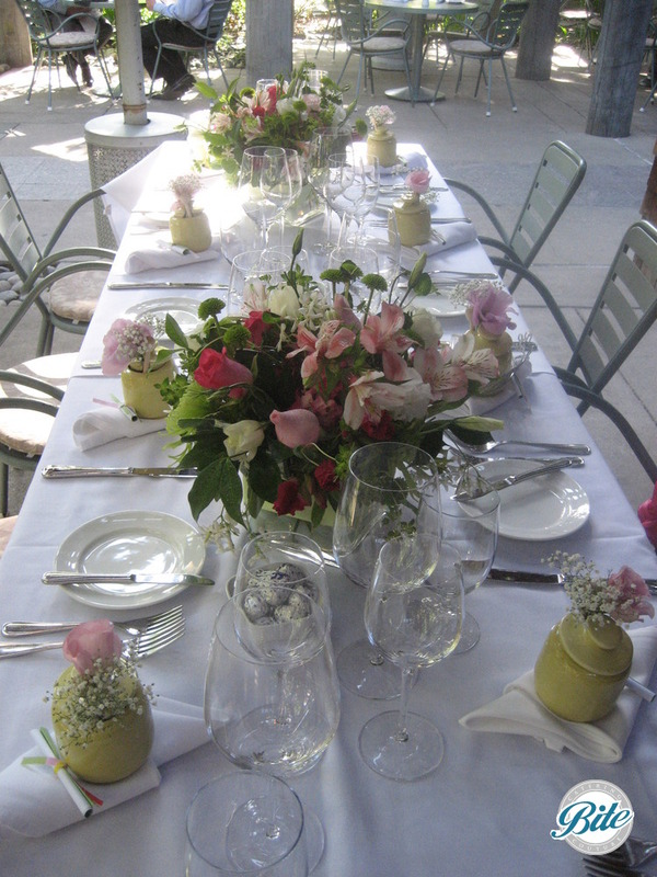 Elegant garden table decor for bridal shower