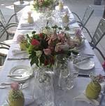 Tablescape for Bridal Shower
