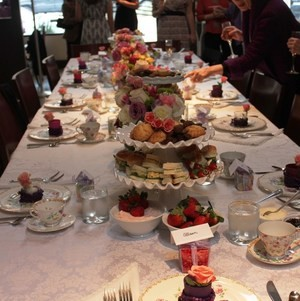 English High Tea Baby Shower - Table