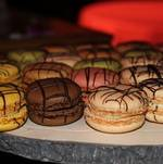 Macaron on wood display