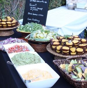 Mexican Buffet Station @ International-Themed Wedding