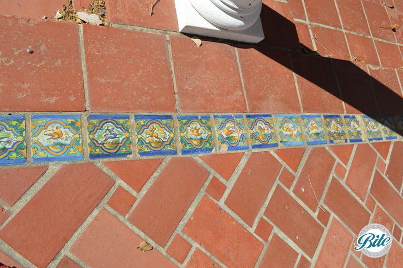 Original Tiles on courtyard patio