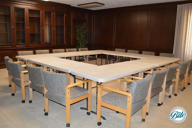 Conference room in the original library of the mansion - seats 18