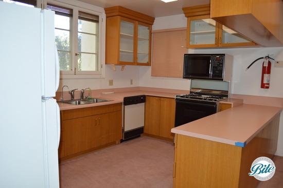 Kitchen area in mansion