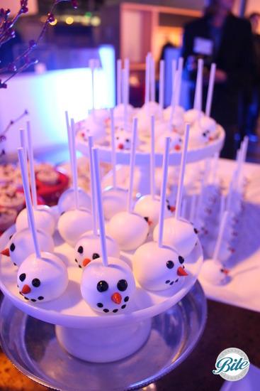 Snowman Eggnog Cake Pops