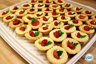 SLOW-ROASTED TOMATO AND HERB TART WITH FETA