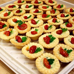 Tomato and Herb Tarts with Feta