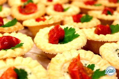 Slow Roasted Tomato and Herb Tarts with Feta