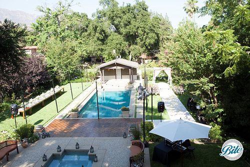 Backyard Wedding Set-Up - Ceremony and Dining Area