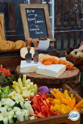 Our beautiful cheeses and farmer's market crudites