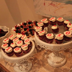 Our signature Valentine's Day XOXO cupcakes - too cute!