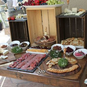 Rustic Artisan Cheese and Charcuterie Display