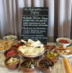Antipasto and crostini display