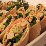 Chicken Wraps in Display