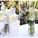 Beautiful floral arrangements by client