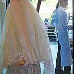 The wedding dress on display