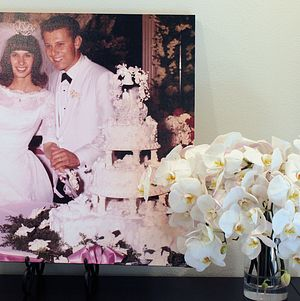 Wedding photo of the happy couple