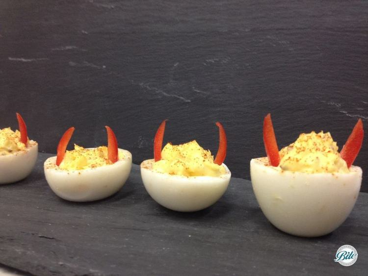 Classic Devilled Egg with a devlish design!