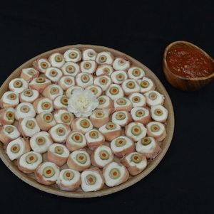 Tray of Eyeballs with Bloody Ooze | Halloween
