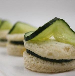 Cucumber Tea Sandwiches - Round