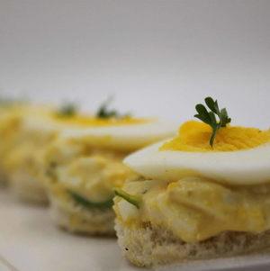 Egg Salad Tea Sandwich - Round