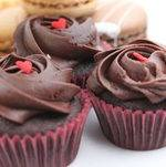 Chocolate Cupcakes with Heart