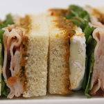 Tea Sandwich - Turkey and Brie Finger Sandwiches on Sides
