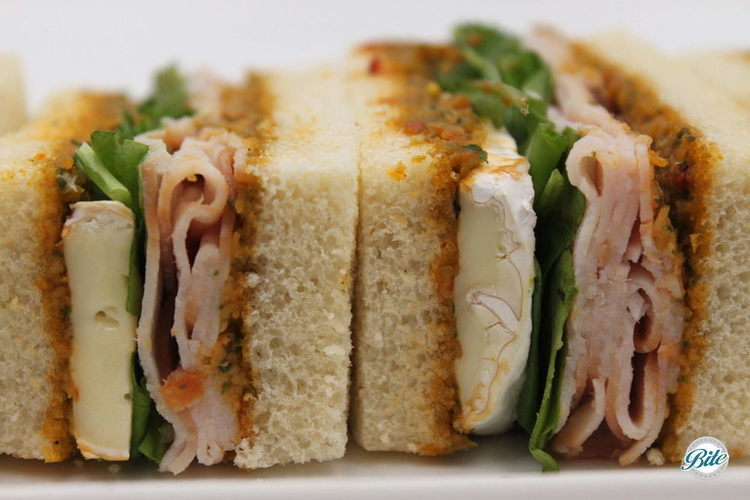 Finger sandwiches from high tea menu available for delivery