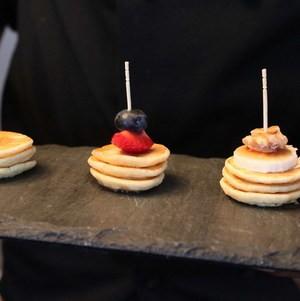 Assorted Mini Pancakes on Slate Tray