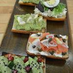 Tartines of different flavors