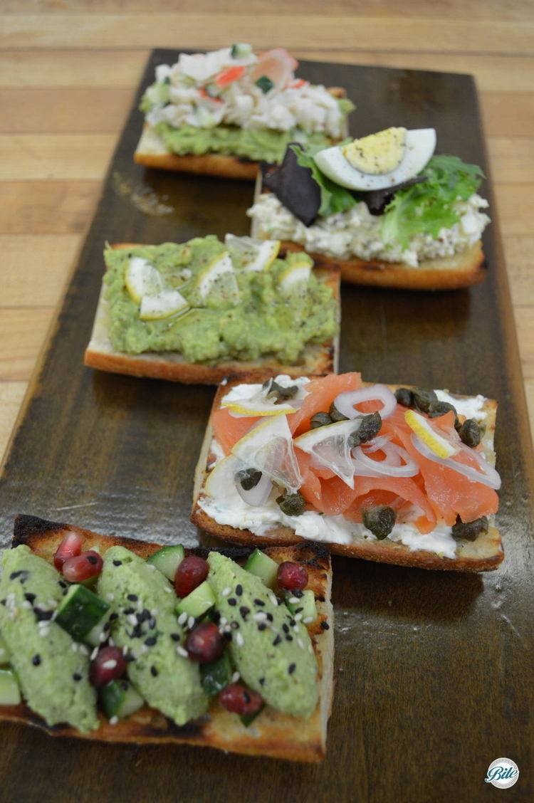 Assorted tartine flavors