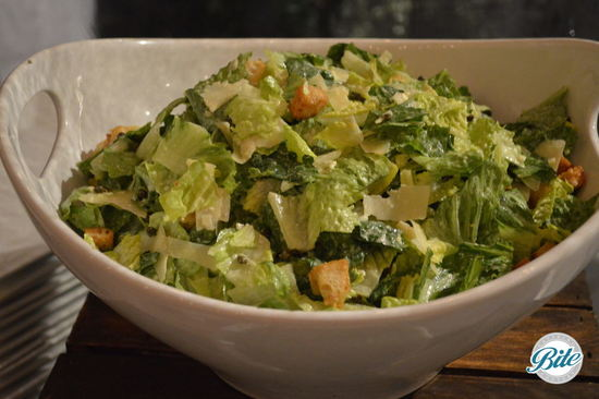 Caeser Salad served in a bowl