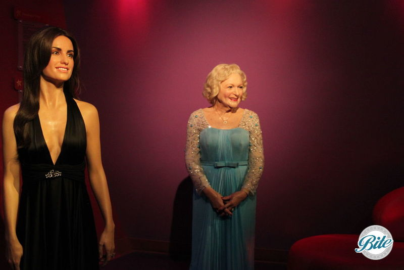 Warm welcomes from Penelope and Betty @Madame Tussauds Hollywood