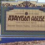 Adamson House Entry Sign