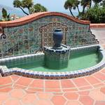 Back Patio Fountain with decorative tile