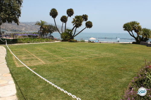 The back lawn of the Adamson House - another great space for an event overlooking the ocean