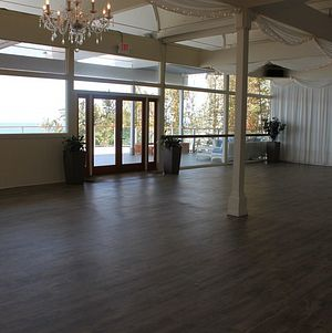 Large windows into the event space @ Malibu West Beach Club