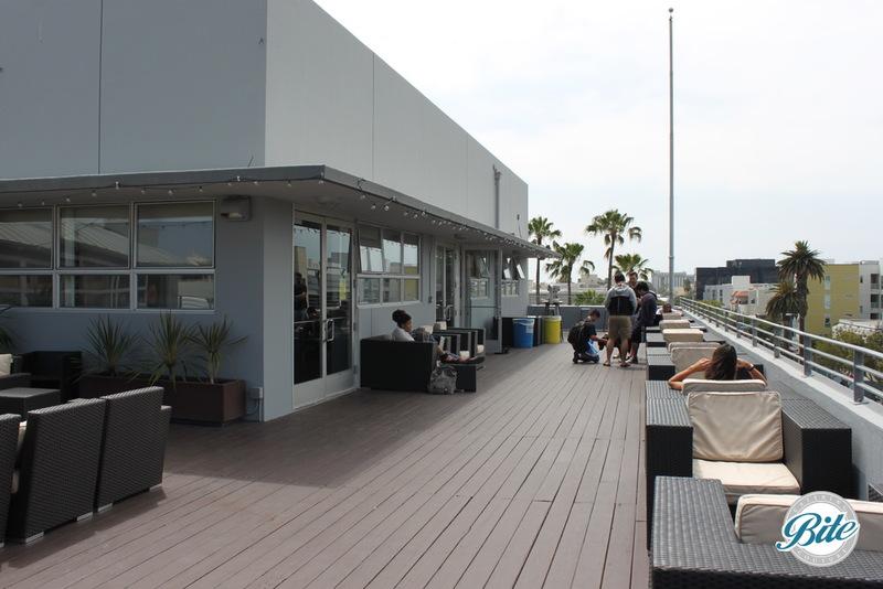 90+ft long roofdeck patio near 3rd Street Promenade offers spectacular Santa Monica ocean views