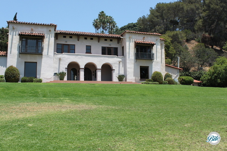 Wattles Mansion view of the house from the front lawn