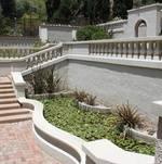 Hollywood Staircase with Lily Pond @ Wattles Mansion