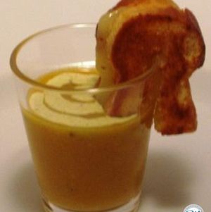 Soup Shot with Mini Grilled Cheese