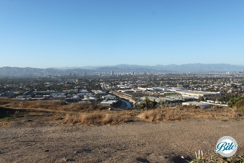 A gorgeous panoramic view of Los Angeles from the Skyline Terrace at Baldwin Hills Scenic Overlook