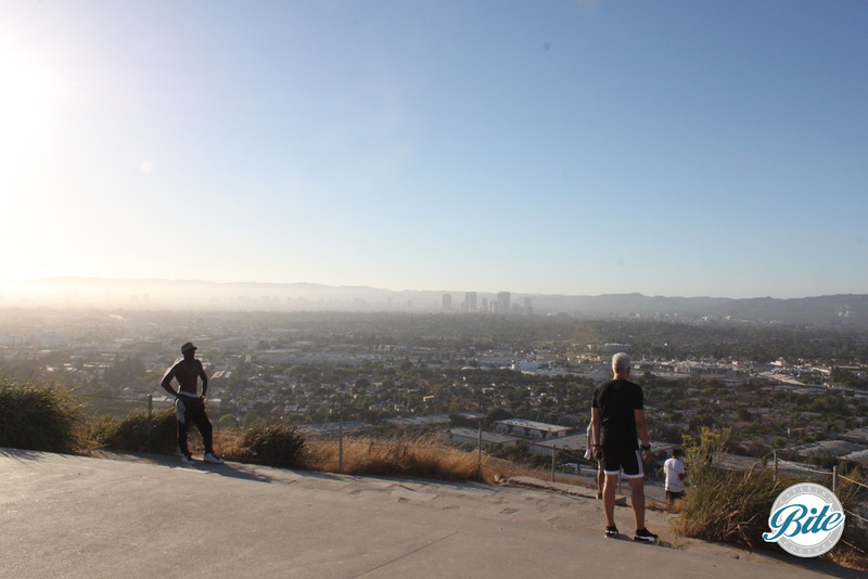 View from the Overlook at the top of Baldwin Hills Scenic Overlook.