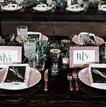Placesetting for Mr and Mrs @ Smoky Hollow Studios